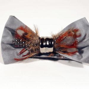 Papillon In Seta E Ceramica Con Piume COR SINE LABE DOLI