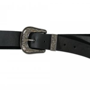 Cintura In Pelle Una Fibbia Argento B-LOW THE BELT