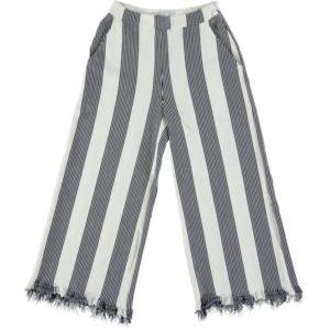 Pantalone A Palazzo Con Fondo Sfrangiato E FACTORY