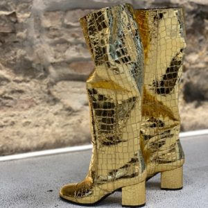 Stivale Croco Gold VIA ROMA15