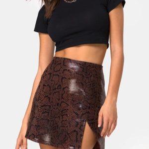 Mini Skirt SNAKE BROWN