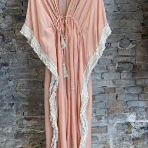 Kimono Con Frange E Perline