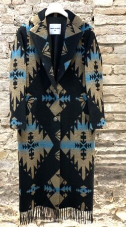 Cappotto In Lana Con Frange FRONT STREET8