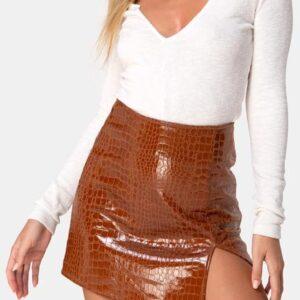 Mini Skirt Croco