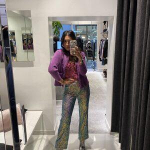 Pantalone Sequins A Vita Alta