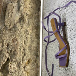 Sandalo Con Punta Quadrata