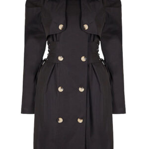 Trench Coat Con Stringhe