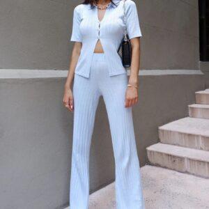 Pantalone Lungo Con Elastico In Vita