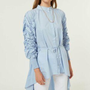 Camicia Asimmetrica In Cotone