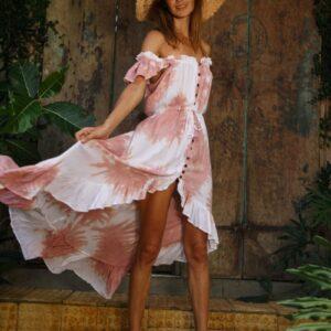Formentera Tie Dye Midi Dress
