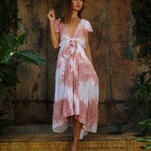 Formentera Tie Dye Bow Dress