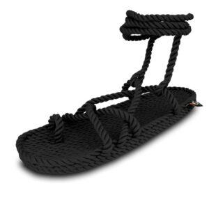 Sandalo In Corda Con Lacci Alla Caviglia NSOM
